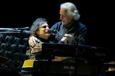 Charly García y Nito Mestre el año pasado, en el Luna Park