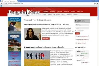 El diario de Malvinas expectante por el anuncio de la