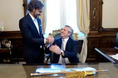 Cafiero y el presidente Alberto Fernández