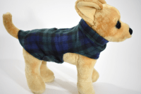 dog-coat-fleece-xs-green-navy-plaid-2 | Bucket and Friends