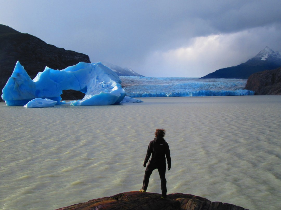 glacier grey iceberg trekking