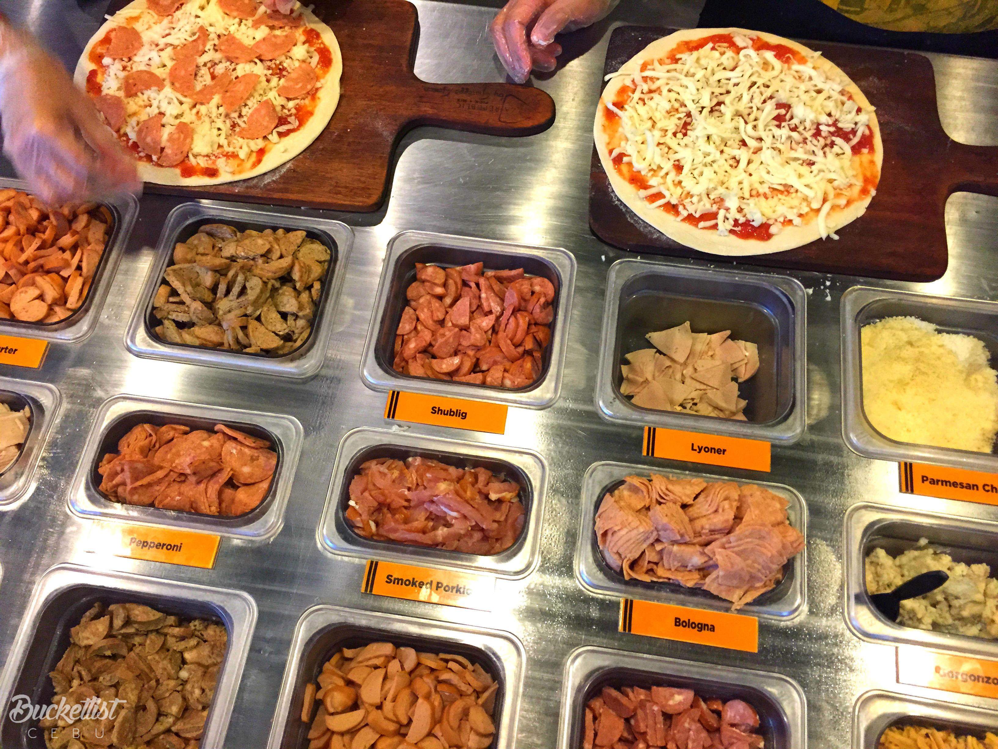 Make Your Own Pizza Bucketlist Cebu