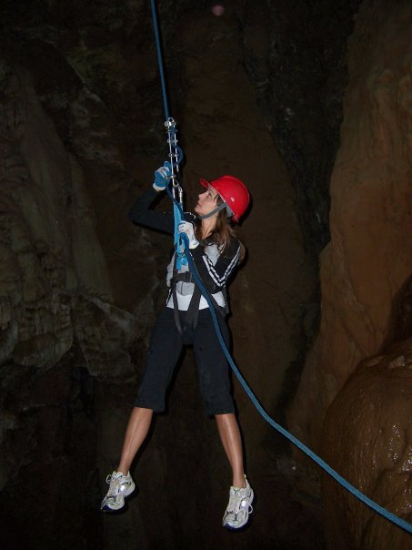 Annette White Cave Rappelling