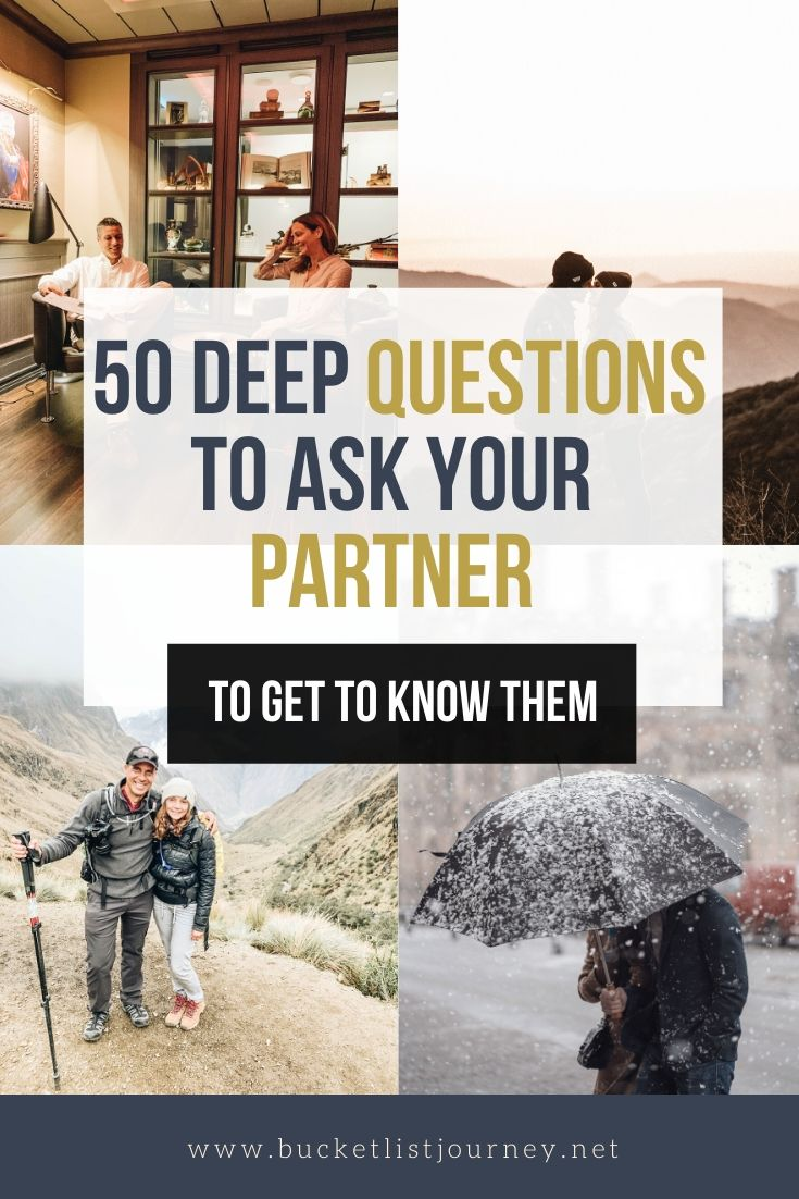 Fun Questions to Ask Your Husband, Wife, Spouse and/or Partner to get to Know them on a Deeper Level