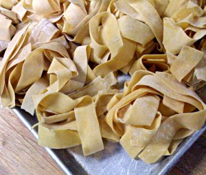 making pappardelle pasta