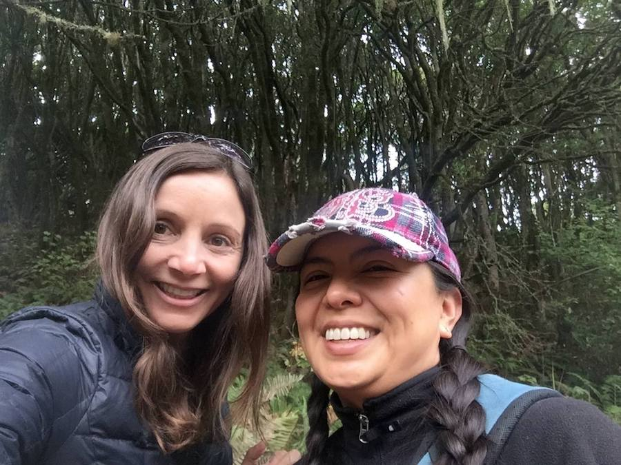 Simple and Cheap (or Completely Free!) Bucket List Ideas: Annette White and friend hiking in Northern California