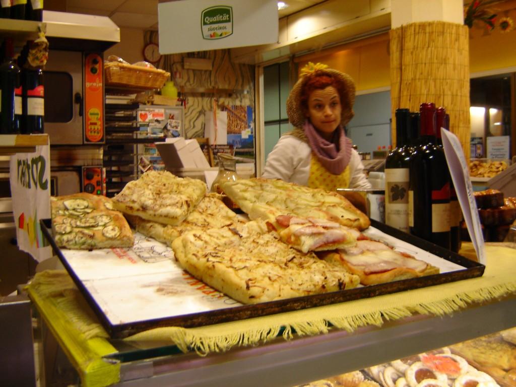 Fresh focaccia at Mercato Centrale