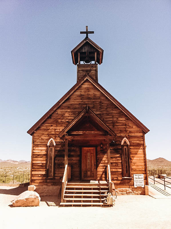 Church at Arizona's Goldfield Ghost Town