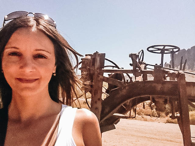 Annette White at Goldfield Ghost Town in Arizona
