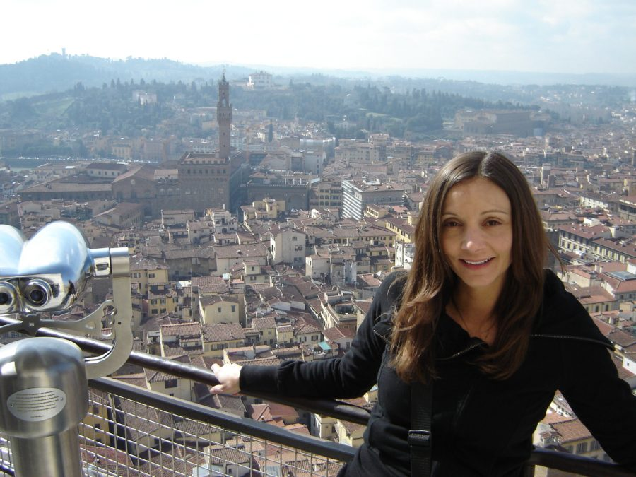 Annette at the top of the Duomo in Florence, Italy