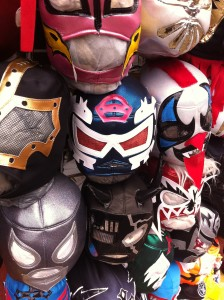 wrestling masks at la bufadora market