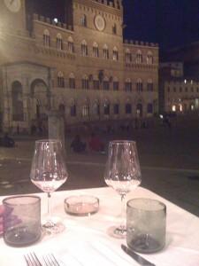wine glasses in italy