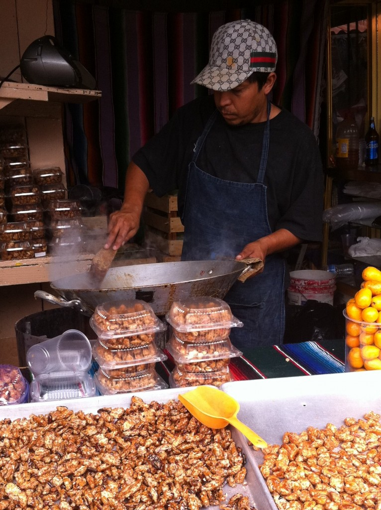 spiced nuts street food in mexico