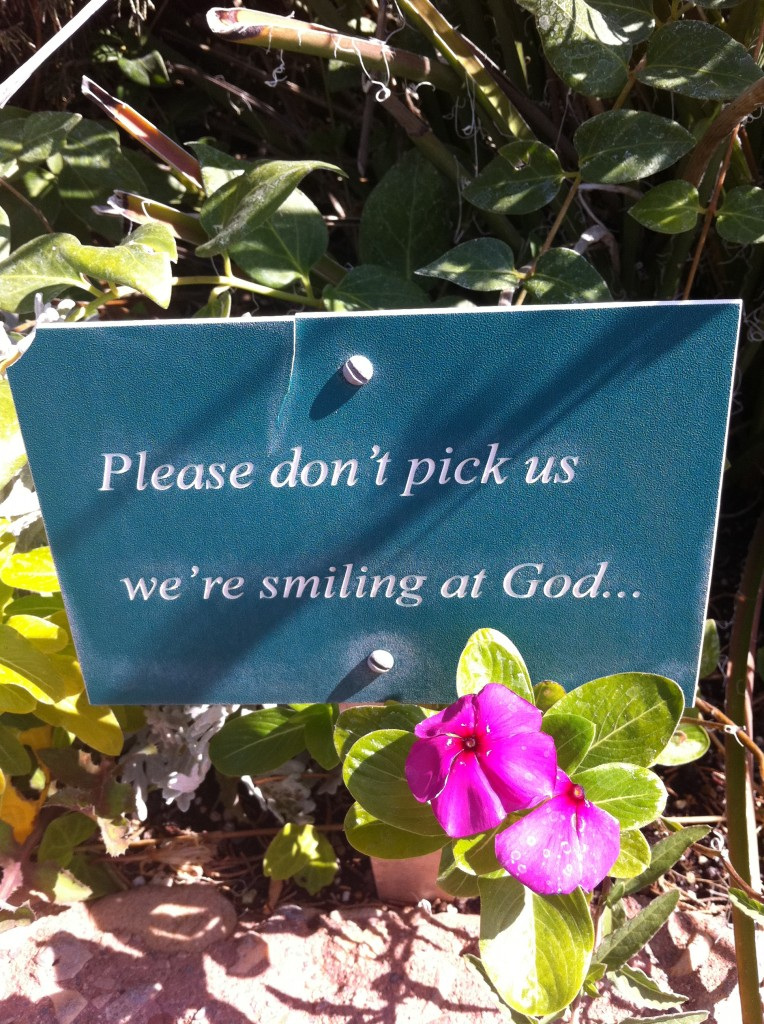 Sign at Sedona Chapel of the Holy Cross