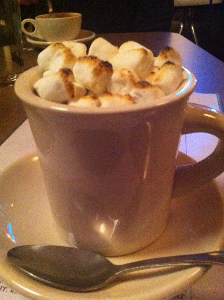 Hot Chocolate & Marshmallow Dessert
