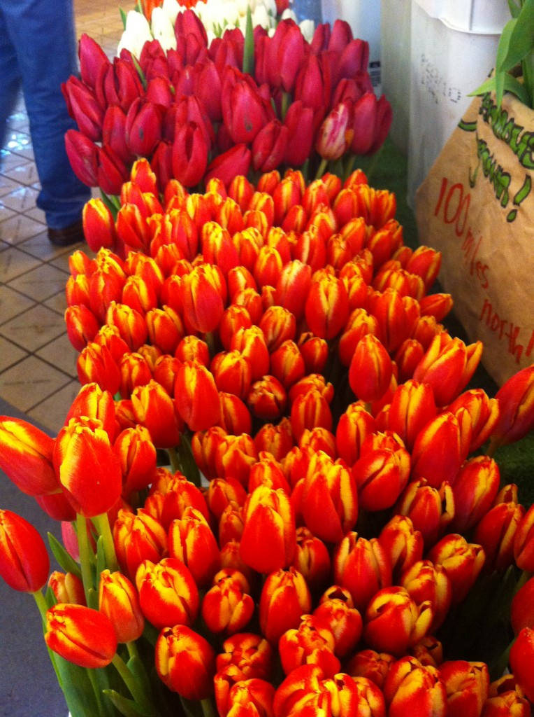 Tulips at Pike Place Fish Market