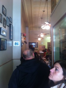 Line at Salumi in Seattle