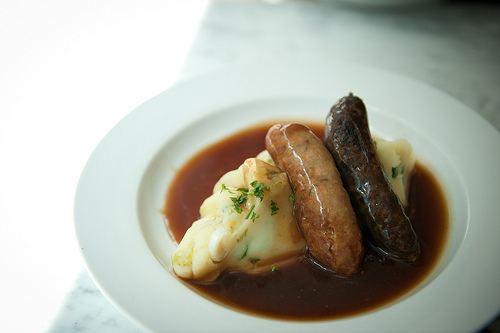 bangers and mash in london