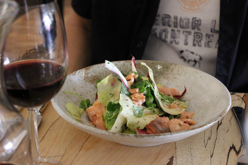 Salmon Salad at Arbutus Working lunch