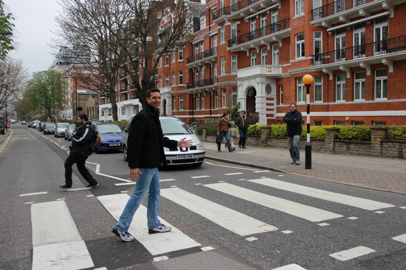 Walking Abbey Road London