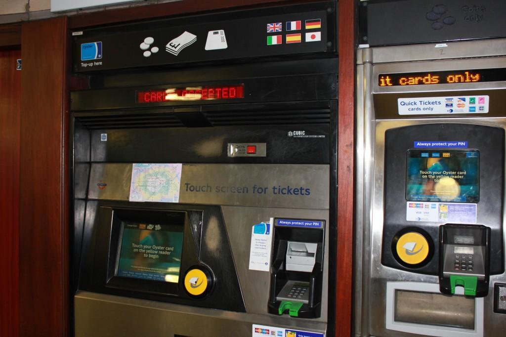 London Underground Ticket Machine