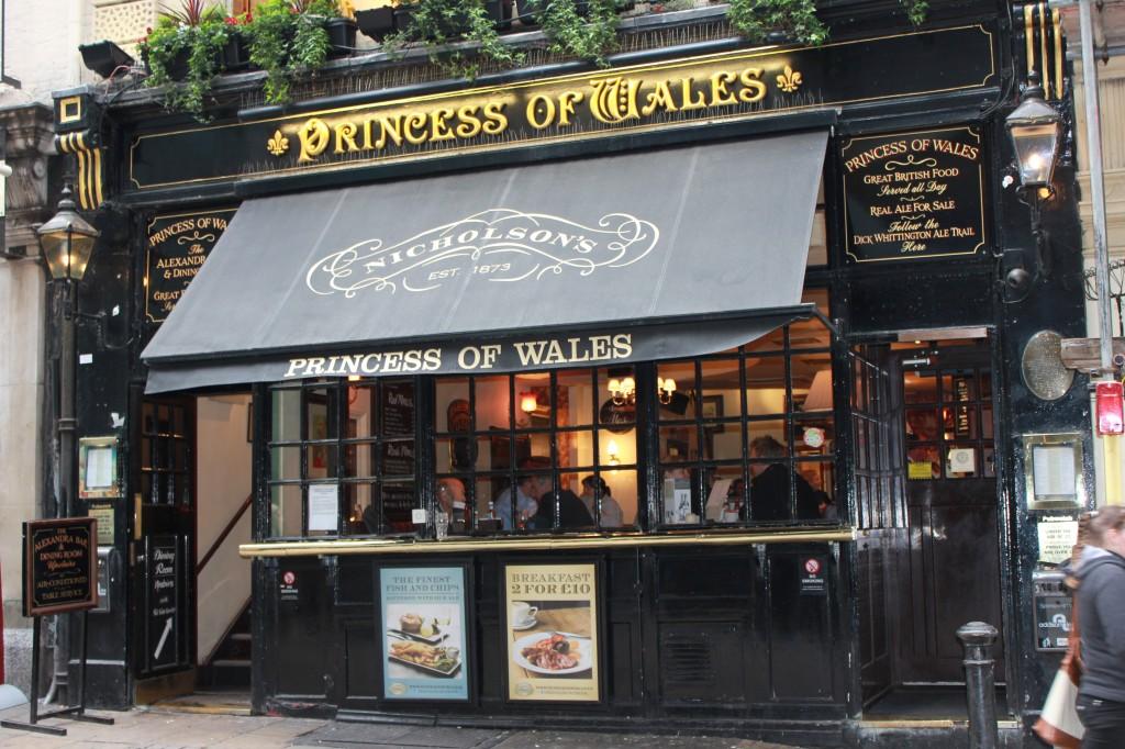 Princess of Wales Pub in London