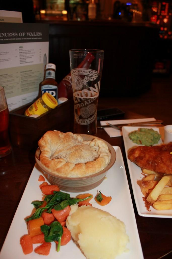 Pie and English Mushy Peas