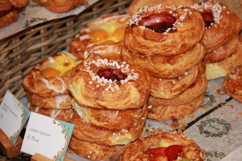 Cherry Danish at Harrods Food Hall