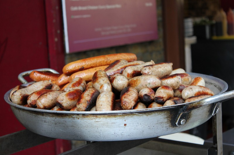 Sausage at London's Borough Market