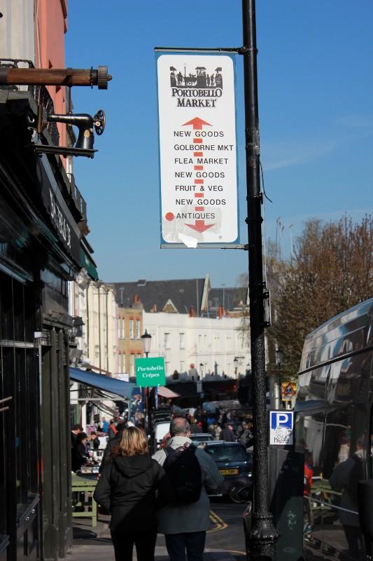 Portobello Market in Notting Hill