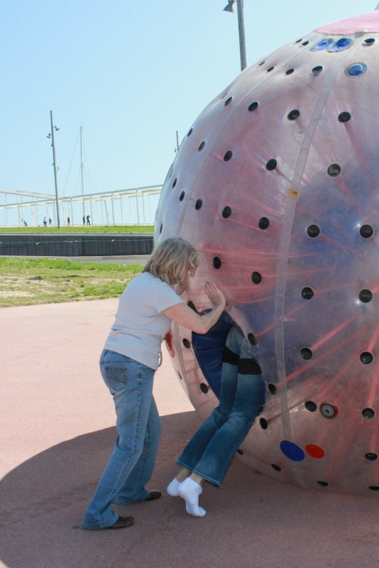 Getting out of the zorb