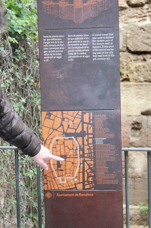 Roman Tower in Barcelona