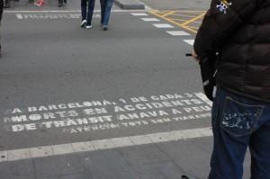 Street Sign Warning in Barcelona