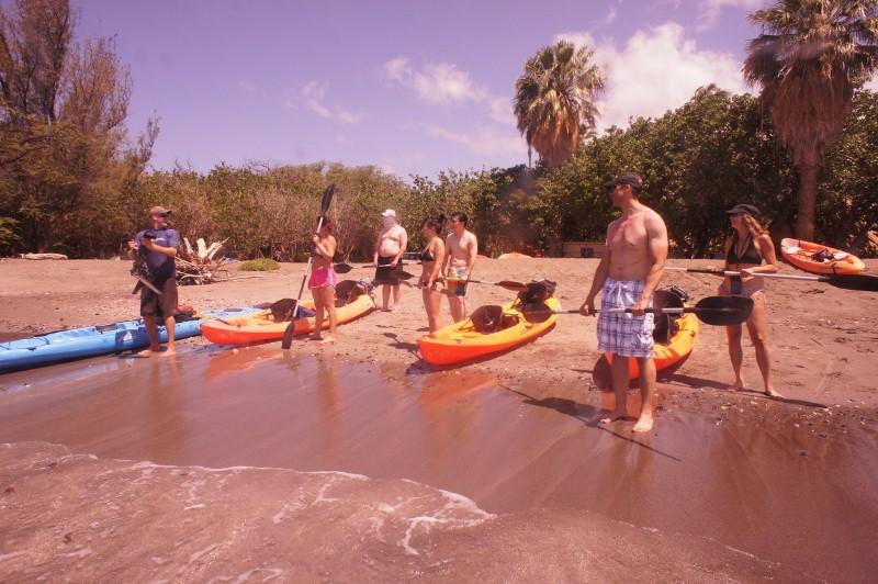 Kayak demonstration in Olowalu