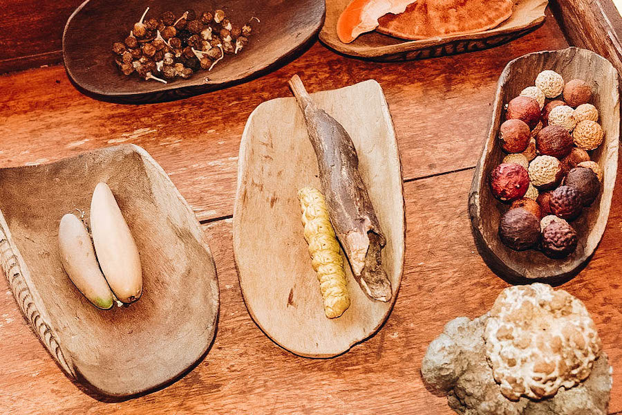 Witchetty grub on a plate