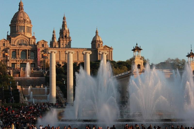Montjuic Fountain in Barcelona