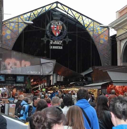Front of La Boqueria Market