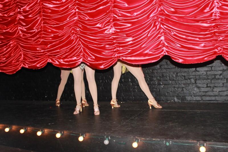 Burlesque show at speakeasy