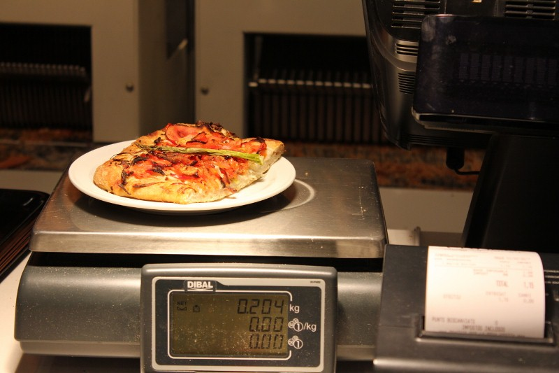 Pizza in Sitges