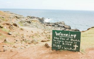 Nakalele Blowhole Safety Warning for Visitors