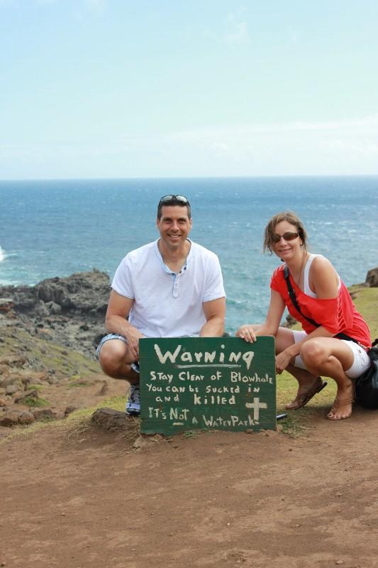 Warning at Nakalele Blowhole | Annette White
