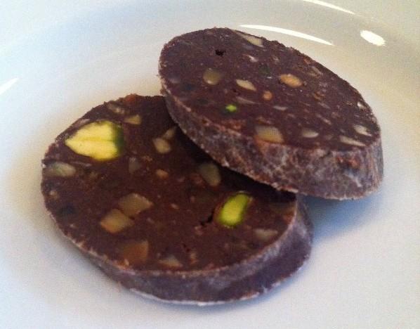 Sliced Chocolate Salami