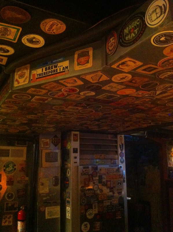 Coaster Ceiling in Man Cave