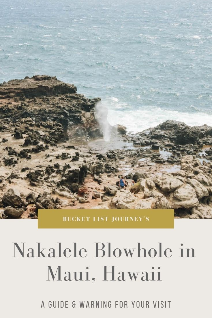 A Guide to Nakalele Blowhole (and the nearby Lighthouse Point) in Maui, Hawaii