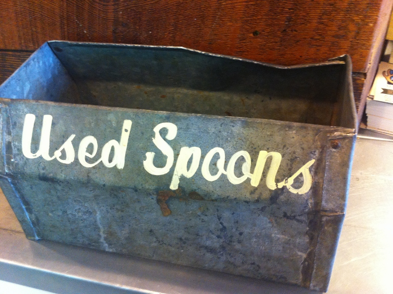 Used Spoons Box at Salt & Straw