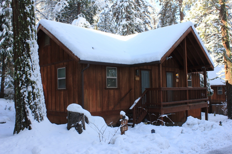 Cabin at Evergreen Lodge in Yosemite