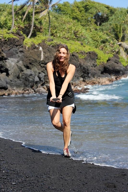 Annette White at the Black Sand Beach