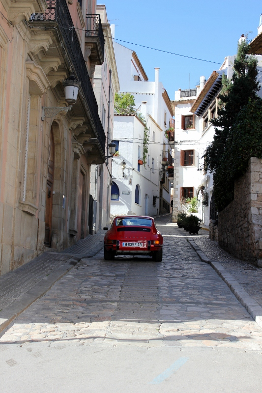 cobbled roads of Sitges Spain