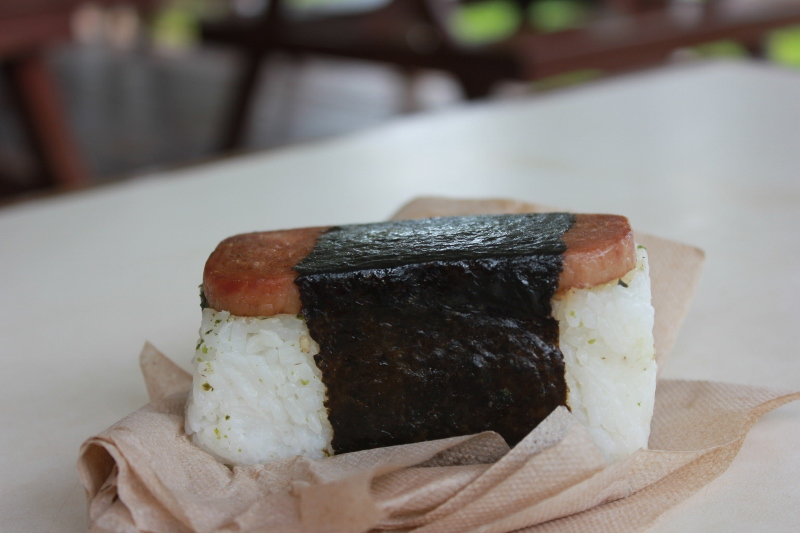 Things to do, see & Eat in Maui - Hawaiian Spam Musubi