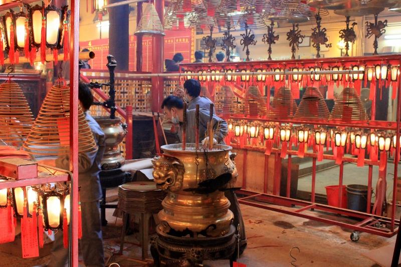 Burning I at Man Mo Temple